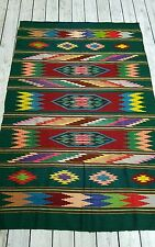 1930s Antique SW Chimayo Blanket Saltillo Boho Shaman Chief Blanket masterweaver