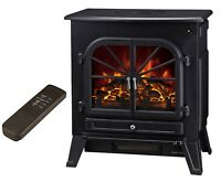 Galleon Fires Orion Electric Stove with Remote Control - Electric Fire - Black