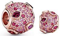 Genuine Pandora Rose Gold ALE R Kiss Pave Charm 788702C01 14k gold plated