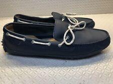 Cole Haan Men's Blue Leather Boat Shoes Driving Mocassins Size-8.5 M