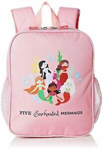 Kids Mermaid Backpack Pre School Bag for Girls - Toddlers Book Bag -Pink-12 inch