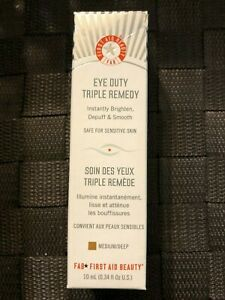 First Aid Beauty FAB Eye Duty Triple Remedy 0.34 fl. oz. 10ml.