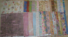 SCRAPBOOK PAPER 12 x 12 MIXED LOT 100+ Sheets Flair Designs & More NEW Last One