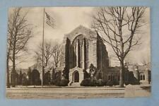 Washington Memorial Chapel Exterior With Flag Valley Forge PA Used Postcard (O)