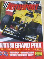 AUTOSPORT SUPPLEMENT MAGAZINE JUL 1998 BRITISH GRAND PRIX GUIDE TO BIG RACE BRUN