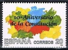 Spanje postfris 1988 MNH 2863 - Grondwet 10 Jaar