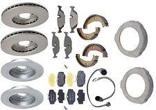 BMW E30 325i 87-91 Complete Brake KIT Rotors Shoes Sensors Pads Plates Meyle
