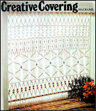 MACRAME PATTERN To Make a CURTAIN COVERING Interwoven with Beads WINDOW DRESSING