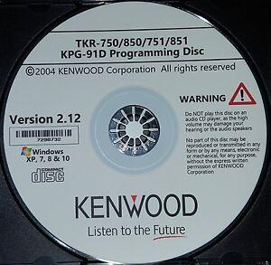 Kenwood KPG-91D Ver 2.12 Programming Software TKR-750, TKR-850, TKR-751, TKR-851