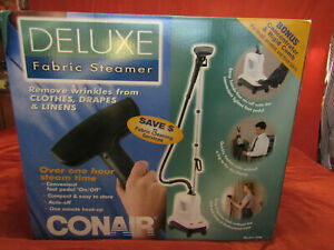 New Conair GS8 Deluxe Fabric Steamer W/ Telescopic Pole 1300W Clothes Drapes