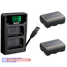 Kastar Battery LZD2 Charger for Sony NP-FM50 BCVM50 & Cyber-shot DSC-F828 DSC-R1