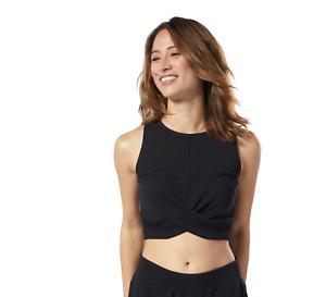 Reebok Women's Studio Novelty Crop Top Yoga $40 MSRP Sizes M L XL
