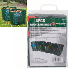 SET OF 4 GARDEN WASTE RECYCLING BAGS REFUSE SACKS HEAVY DUTY WITH HANDLES NEW