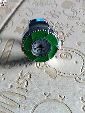 Reloj anillo plata flor verde + regalo pendientes