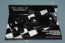 Minichamps F1 1/43 Minardi European PS01 Test Valencia 2003-Jos VERSTAPPEN