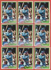 Lot of (14) 1981 Topps Buddy Bell Texas Rangers #475