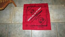 MOTORCYCLE RACING DODGE GRAB LIFE BY THE HORNS RED SCARF