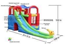 Inflatable Water Slide Bounce House Blow Up Kids Slip And Slide Pool Commercial