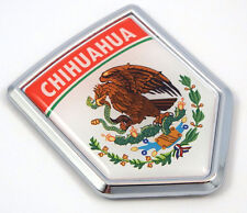 Chihuahua Mexico Flag Mexican Car Emblem Chrome bike Decal 3D Sticker MX18