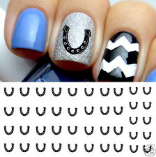 Lucky Horseshoe Nail Art Waterslide Decals - Salon Quality!