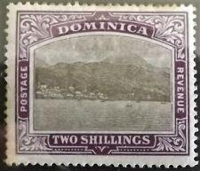 DOMINICA KE VII 1903-07 2s GERY.-BLACK & PURPLE MINT HINGED S.G.34 VGC