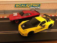 Scalextric Digital Dodge Challeneger & Corvette C6R Working Lights Brand New