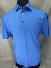 FootJoy Large Blue Stretch Golf Shirt - Short Sleeve Polo - Large