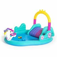 Inflatable Kids Unicorn Water Play Center, Children's Paddling Pool, Unicorn