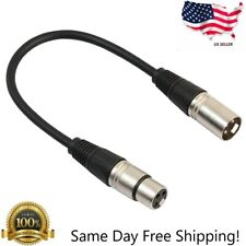 1ft Premium XLR Male to Female Microphone Audio Extension Cable