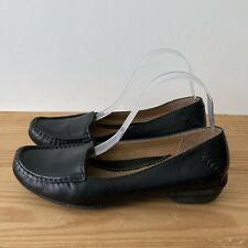 Clarks shoes size 5.5 black leather loafers low heel Active Air