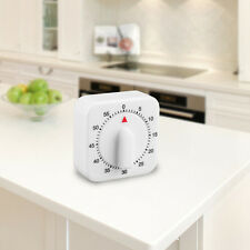 Square 60 Minute Mechanical Kitchen Cooking Timer Food Preparation Baking ##