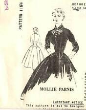 "Vintage 1950s Spadea Pattern Women's DRESS 1194 Mollie Parnis Sz 10 B34"" UNUSED"