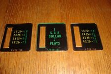 3 Bally Pinball Coin Entry Plastics, New, $3 Shipping!