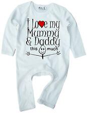 """Lustig Baby Body /"""" I Love My Mummy /& Daddy das Viel /"""" Strampler Baby Geschenk"""