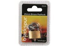 Brand new brass padlock Hardened steel shackle & solid steel body size 25mm 210