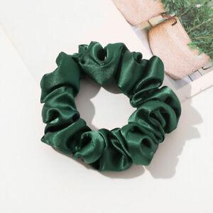Multicolor Dot Floral Print Satin Hair Scrunchies Elastic Hair Ropes Hair Bands
