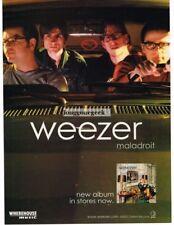 2002 Weezer Maladroit Vintage Album Print Ad