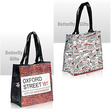 Women Ladies Girls Bags City Of Westminster Oxford Street Design Bag PVC Bag