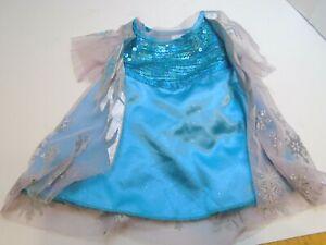 Build a Bear Elsa Costume Frozen Blue Dress