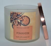 BATH & BODY WORKS POMANDER SCENTED CANDLE 3 WICK 14.5OZ LARGE ORANGE CLOVE