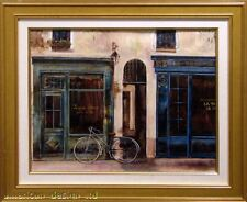Sabrina R. DePatran Le Scene Durane bicycle Original Oil Painting French city