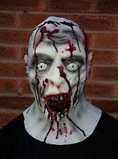 Bloody Undead Zombie Full Head & neck Latex Mask Deluxe Fancy Dress Halloween