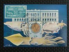 Mónaco Mk 1960 museo pulpo Octopus maximum tarjeta Carte maximum card mc cm c1110