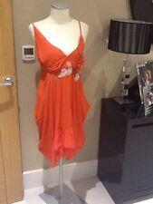 Nocturne orange taille 12 robe SOIE