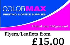 A4 Leaflets/Flyers Printed onto 160gsm Card from £15.00
