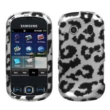 Silver Leopard Hard Case Cover for Samsung Seek M350