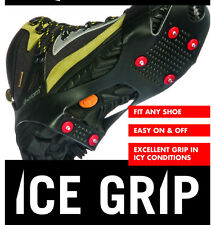 SNOW SHOE BOOTS ICE SPIKES GRIPS CLEATS CRAMPONS NO SLIP ANTI SMALL UK 2 3 4 5