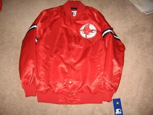 Brand New Boston Red Sox Throwback Starter Dugout Jacket-Men`s Large