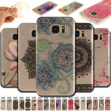 Fashion Clear Skin Pattern Case Soft TPU IMD Cover Rubber Back For Samsung Phone