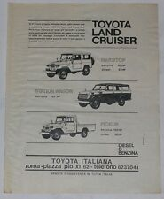 Advert Pubblicità 1975 TOYOTA LAND CRUISER BJ 40 HARD TOP / PICK UP - 55/56 SW